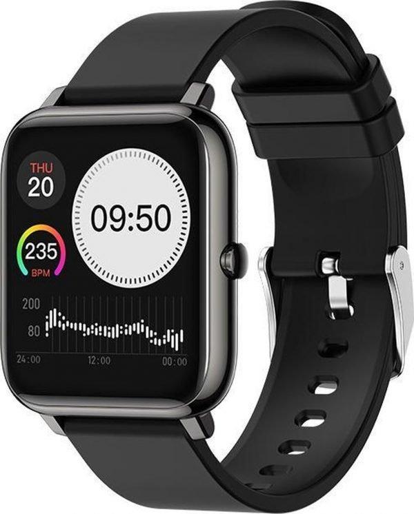 Dylero Fit Good - Smart Watch / Fitness Tracker met hartslag- en bloeddrukmeter, slaapmonitor & meldingen - Zwart - Android & iOS