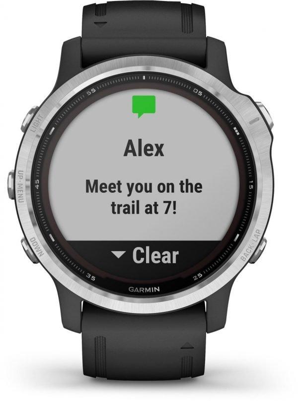 Garmin Fenix 6S Solar - Multisport horloge - 42 mm - Zilver/zwart