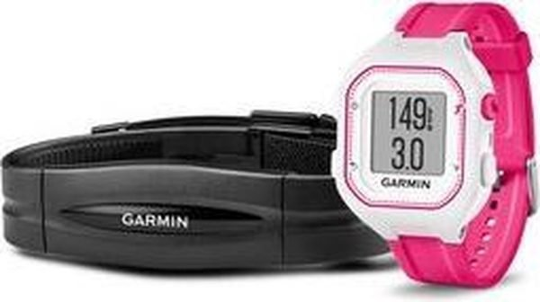 Garmin GPS fitnesshorloge met activity tracker Forerunner 25 Dames Roze/wit HRM
