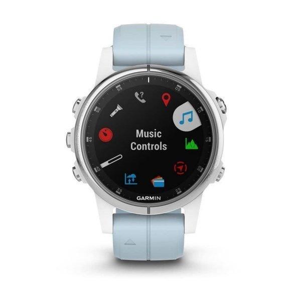 Garmin fenix 5S Plus - GPS multisport smartwatch met polshartslagmeter - 42 mm - Wit/ Seafoam