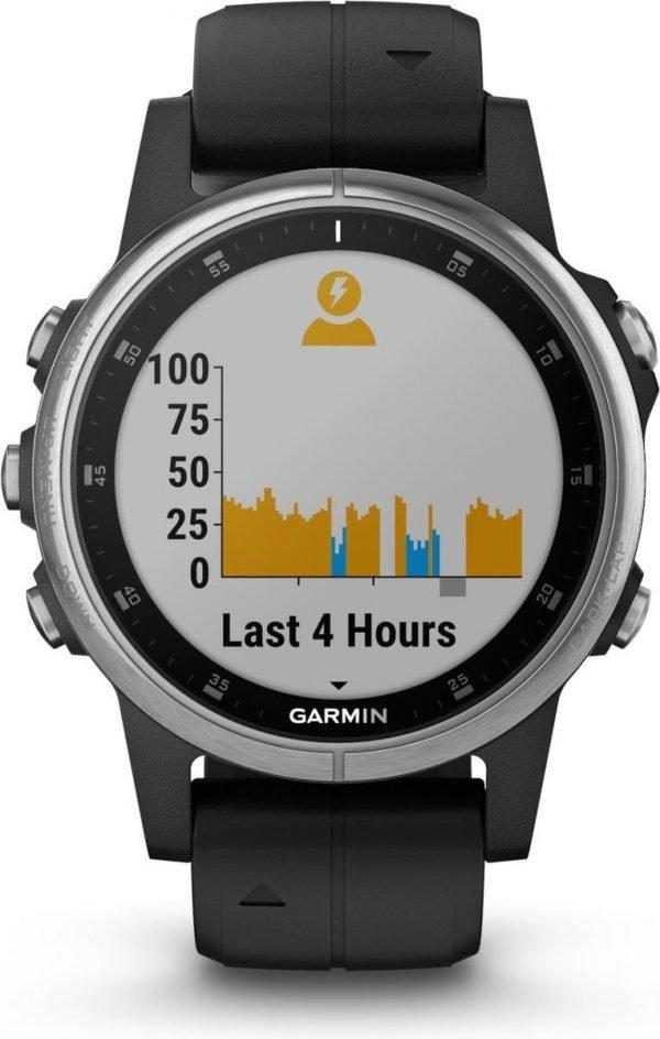 Garmin fenix 5S Plus - GPS multisport smartwatch met polshartslagmeter - 42 mm - Zwart/ Zilver